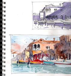 Sketchbook page of Watercolorist Ron Stocke. Come join the painting vacation of a lifetime as you travel to Italy and seek out the best sites to paint in Lucca, Italy. With a day trip to Pisa built in, this week long workshop promises to give you memories, and paintings to last a lifetime. May 20th-24th, 2013. Details of the workshop can be found on our website.