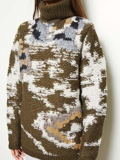 Knitted camoflague | Wool | Pattern | isabel marant etoile 14-15aw