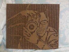 cardboard portrait