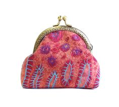 Frame coin purse embroidered quilt coin purse by diohej on Etsy, $28.00