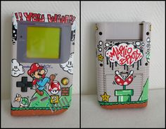 game boy art | Custom GAMEBOY Mario Bros