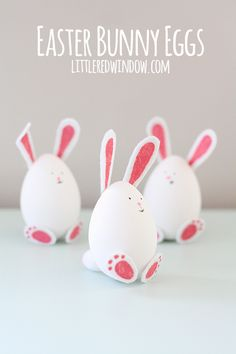 These cute little Easter Bunny Eggs are so charming and easy to make!