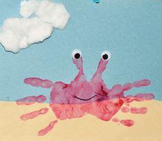 Pintura dedos cangrejo