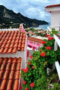 terracotta rooftops of greece