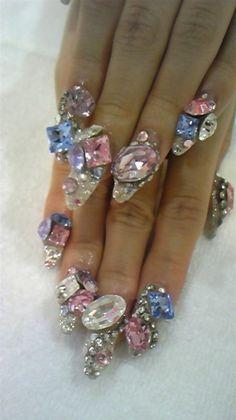 Jeweled Nails - The #UltimateBling #Mani