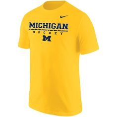 Men s Nike Maize Michigan Wolverines Center Line Hockey T-Shirt Center  Line 55ea361ee
