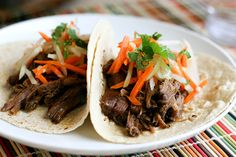 Tasty Kitchen Blog: Slow Cooker Korean Short Rib Tacos. Guest post by Natalie Perry of Perry's Plate, recipe submitted by TK member Shelbi Keith of Look Who's Cookin' Now.
