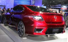 Honda Accord 2014 From Back View Wallpaper