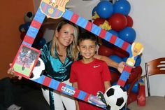 Barcelona Messi Birthday, Soccer Birthday Parties, Football Birthday, 11th Birthday, Barcelona Soccer Party, Fc Barcelona, Party Activities, Party Themes, Soccer Party
