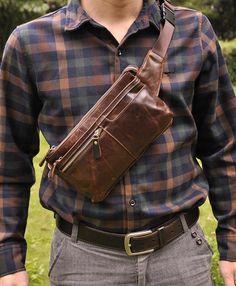 Midas Retro Oil Wax Genuine Leather Multi-Task Bag   Price   38.52  amp.  Retro MenWaist PackMen s ... fc1bec33f4362