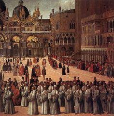 Gentile Bellini | Procession in St Mark's Square