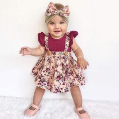 - Baby Girls Floral Suspender 2 pcs Dress - Dresses Length: Knee-Length - Model Number: D8756 - Silhouette: A-Line - Fit: Fits true to size, take your normal size - Actual Images: Yes - Collar: O-neck - Style: Cute - Sleeve Style: Regular - Decoration: Pattern - Dress Style: Tutu Baby Dress - Material Composition: Cotton,Spandex - Sleeve Length(cm): Sleeveless - Material: Spandex,Cotton