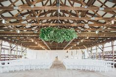 this is our ceremony stable :) <3 we love the wreath
