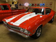 68 Chevelle SS with a 477 Chevy Chevelle Ss, Chevy Pickups, Camaro Ss, Chevrolet Impala, Cars Vintage, Chevy Muscle Cars, Old School Cars, Sweet Cars, Us Cars