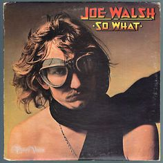 """#So #What, by #Joe #Walsh contains hard rock song """"Welcome To The Club."""" A number of classic #JoeWalsh tracks are featured, including a more polished version of """"Turn to Stone,"""" originally featured on his debut album, #Barnstorm, in a somewhat more riotous style. On a few tracks, #DonHenley, and #GlennFrey of the #Eagles contributed backing vocals. Walsh would be drafted into the Eagles  and play on their best-selling studio album #HotelCalifornia. #SoWhat #Vinyl #LP"""