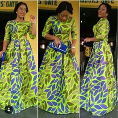 African Print Maxi Gown Dress - The African Clothing