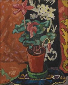Louis Valtat (French, 1869-1952), Pot de cyclamens, 1942. Oil on canvas, 41.3 x 33.4cm.