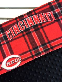 Monogram baby blanket cincinnati reds reds baby blanket minky a cincinnati reds personalized fleece blanket makes the perfect gift for even the youngest negle Image collections