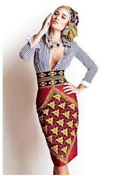 African Pencil Skirt