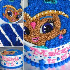 Shimmer and Shine cake, customer cake, blue cake, shimmer and Shine,