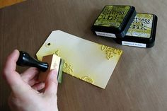 Adding color to dry embossing