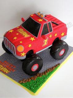 Monster Truck Cake! Lennox would love this!