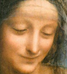 Leonardo da Vinci Virgin and Child with St. Anne (detail, St. Anne), c.1508
