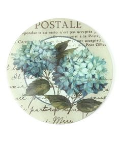Take a look at this Blue Hydrangeas Lazy Susan by CounterArt on #zulily today!
