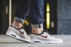 "Nike SB Stefan Janoski Max Suede ""Light Bone & Team Red"" - EU Kicks: Sneaker…"