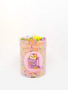 ♥♥♥♥♥♥♥♥DESCRIPTION♥♥♥♥♥♥♥♥ 1-Kitty Loop Scented Slime w 4 Charms 4oz (Strawberry Milk scented ) (Slime is White base,Thick,Glossy & Clicky) 1- Care Pack (Borax,Lolipop,Glitter,Instruction) ♥♥♥The Hoshimi Promise♥♥♥ Every slime is packaged to perfection & super cute so that we bring