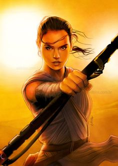 StarWars Art Gallery (@SW_ArtGallery) | Rey | by @willrios #StarWars #TheForceAwakens #fanart