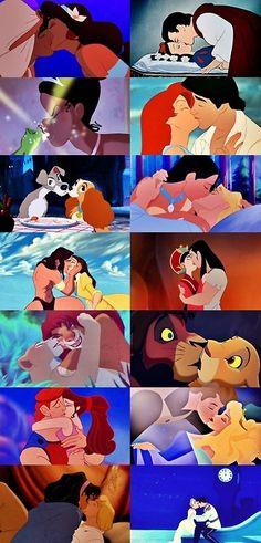 Disney kisses <3