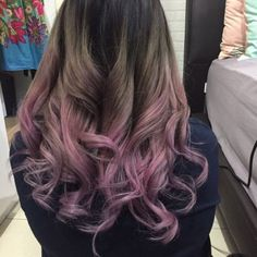 17 Shockingly Pretty Lilac Hair Color Ideas in 2019 - Style My Hairs Hair Dye Colors, Cool Hair Color, Unique Hair Color, Grey Hair Dye, Dye For Dark Hair, White Hair, Dyed Tips, Hair Tips Dyed, Colorful Hair