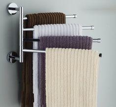AmazonSmile - Bekith Wall-Mounted Stainless Steel Swing Bathroom Towel Rack Hanger Holder Organizer (4-Arm) -