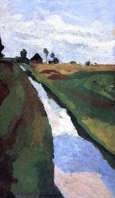 IMG_7641 Paula Modersohn-Becker. 1876-1907. Bremen. Canal dans les marais. Canal in the swamps. vers 1900.  Bremen   by jean louis mazieres