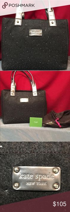 Kate spade tote This lovely Kate Spade New York medium sozed tote handbag comes in almost new condition. In fact, we cluldnt locate one blemish on the interior or exterior. Comes with the original Kate Spade care insert included with sale AND dust bag kate spade Bags Totes