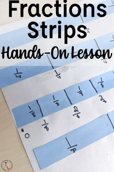 Introduce fractions with your graders with this hands-on concrete lesson. Students create their own fractions strips and use the reference poster while working with fractions on a number line, comparing fractions, and equivalent fractions. Comparing Fractions, Teaching Fractions, Equivalent Fractions, Teacher Blogs, Math Teacher, Math Classroom, Third Grade Math, Fourth Grade, Introduction To Fractions