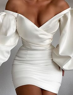 Glam Dresses, Pretty Dresses, Short Dresses, Fashion Dresses, Elegant Dresses, Glamouröse Outfits, Cute Casual Outfits, Elegant Outfit, Classy Dress