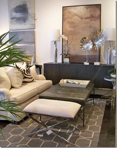 What's New Wednesday: Trendy Cowhide. Available through Heather Scott Home & Design.