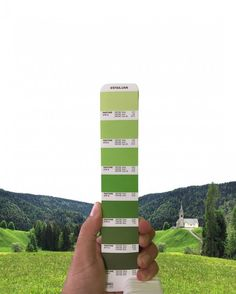 Графический дизайнер представил палитру цветов Pantone на фоне пейзажей (17 фото)