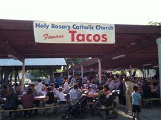 Five nights a year, the Holy Rosary Taco Stand at the Yolo County Fair becomes Woodland, CA most popular restaurant.