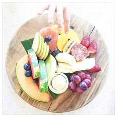 Fruit Platter from The Boathouse, Shelly Beach |  via instagram.com/mintandfizz #fruitplatter #fruitplate #pineapple #watermelon #foodstyling