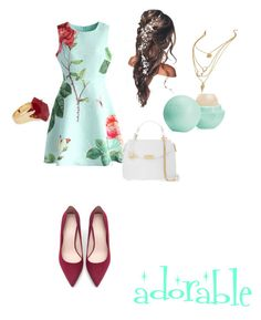 """adorable"" by q-griffin on Polyvore featuring Chicwish, Zara, Versace, Lola Rose and Eos"