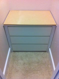IKEA Hackers: Ikea Malm Closet drawers 3 Drawer Chest, Chest Of Drawers, Closet Drawers Ikea, Malm Dresser, White Chests, Ikea Malm, Ikea Hackers, Wardrobe Design, Home And Living