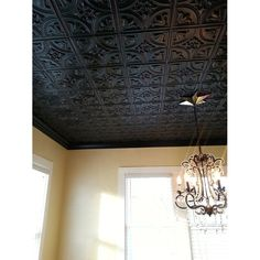 Outstanding black decorative tin ceiling tiles chandelier home decorating ideas The post black decorative tin ceiling tiles chandelier home decorating ideas… appeared first on Feste Home Decor . Faux Tin Ceiling Tiles, Tin Tiles, Drop Ceiling Tiles, Tin Ceiling Kitchen, Textured Ceiling, Wood Tiles, Ceiling Texture, Kitchen Backsplash, Pop Design