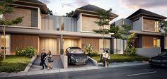 Super exterior hotel design facades home Ideas Modern Tropical House, Tropical Houses, Facade Design, Exterior Design, Row House Design, House Color Palettes, Modern Townhouse, Exterior House Colors, Facade House
