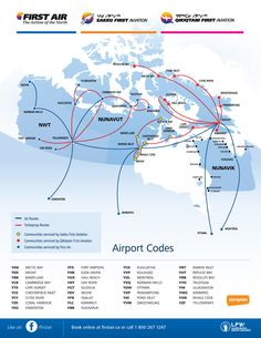 Canadian North / First Air joint route map