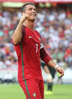 Portugal s forward Cristiano Ronaldo celebrates after scoring a goal during  the International Friendly match between Portugal and Estonia at Estadio. f355565379a52