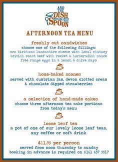 english tea party menu | Afternoon Tea Menu