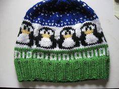 Baby Knitting Patterns Scarf Ravelry: Penguin chart pattern by Sandra Jäger Baby Hats Knitting, Fair Isle Knitting, Knitting Charts, Knitting For Kids, Baby Knitting Patterns, Knitting Stitches, Knitting Yarn, Knitting Projects, Knitted Hats